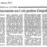 il Trentino del 12 marzo 2011_risposta cons. Anderle
