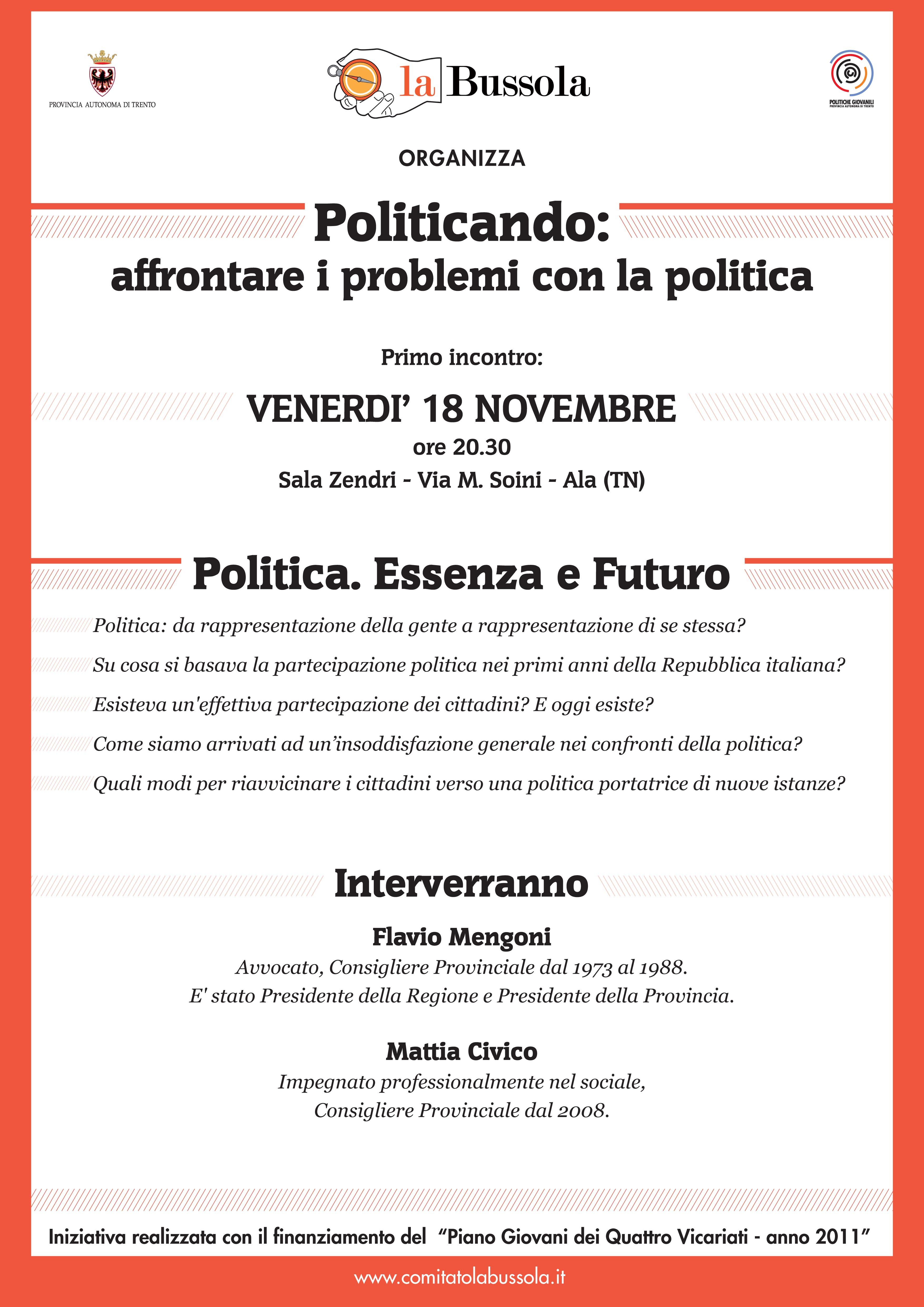 Politicando_serata 18/11/2011