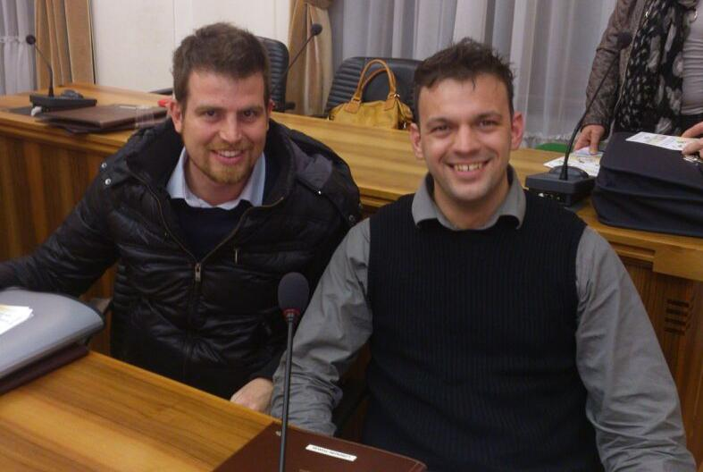da sinistra i consiglieri Silvano Marchiori e Manuel Lorenzini