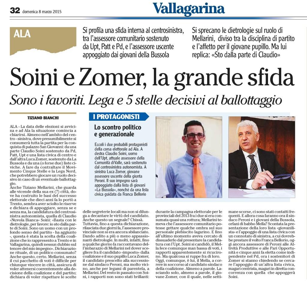 l'Adige 8/03/2015