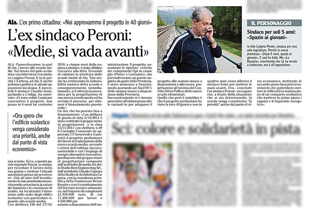 L'ex sindaco Peroni: Medie, si vada avanti